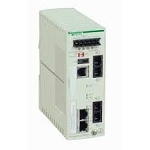 Schneider Ethernet TCP/IP managed switch - ConneXium - 2TX/2FX - single mode : TCSESM043F2CS0